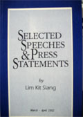 Selected Speeches & Press Statements - Vol. I (1991)